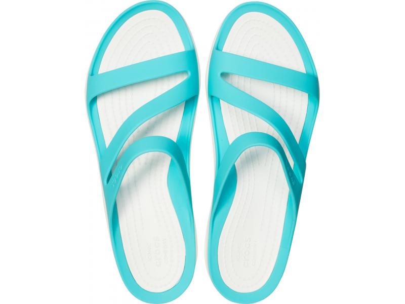 Crocs™ Women's Swiftwater Sandal Pool/White