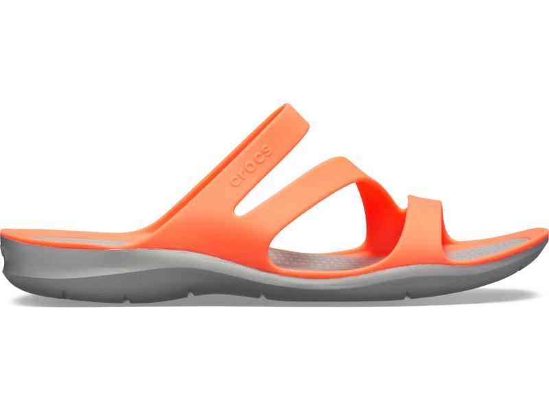 Crocs™ Women's Swiftwater Sandal Bright Coral/Light Grey
