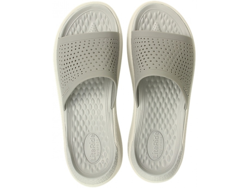 Crocs™ LiteRide Slide Smoke/Pearl White