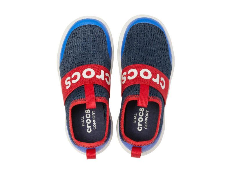 Crocs™ Swiftwater Easy-On Logo Shoe Kid's Navy/Pepper