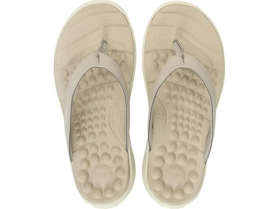 Crocs™ Reviva Flip Women's Cobblestone/Stucco