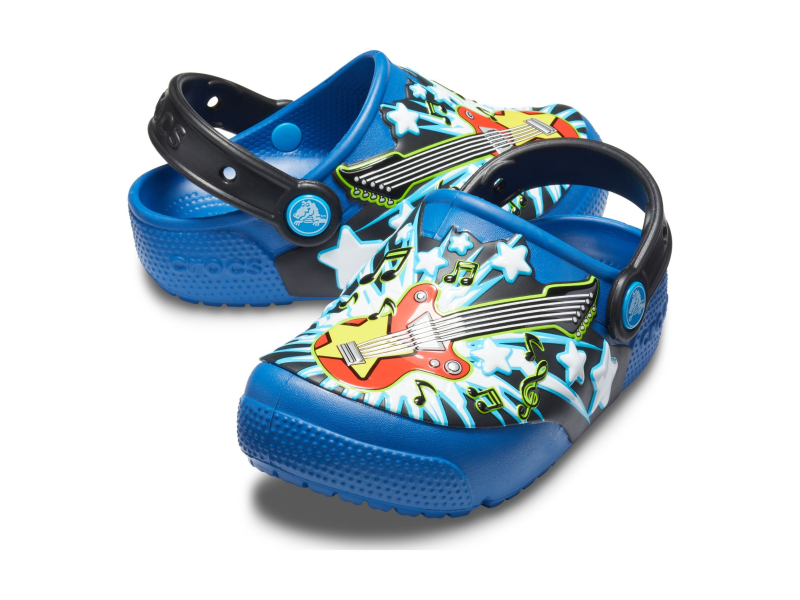 Crocs™ Funlab Guitar Lights Clog Kid's Blue Jean