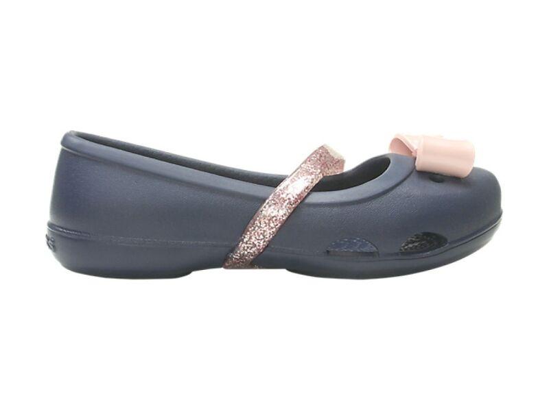 Crocs™ Lina Charm Flat Kid's Navy