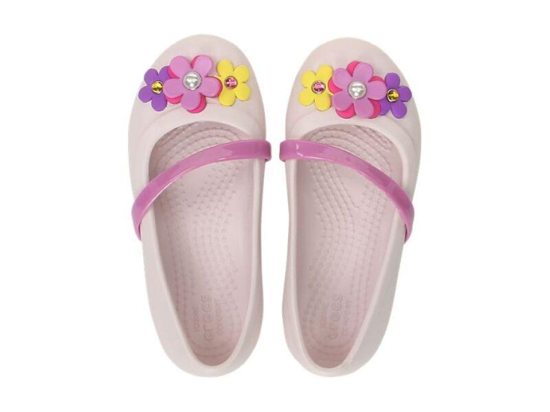 Crocs™ Lina Charm Flat Kid's Barely Pink
