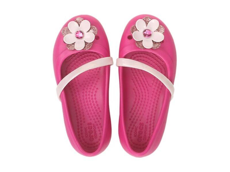 Crocs™ Lina Charm Flat Kid's Candy Pink