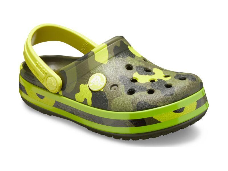 Crocs™ Crocband Multi Graphic Clog Kid's Citrus
