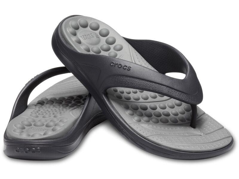 Crocs™ Reviva Flip Black/Slate Grey