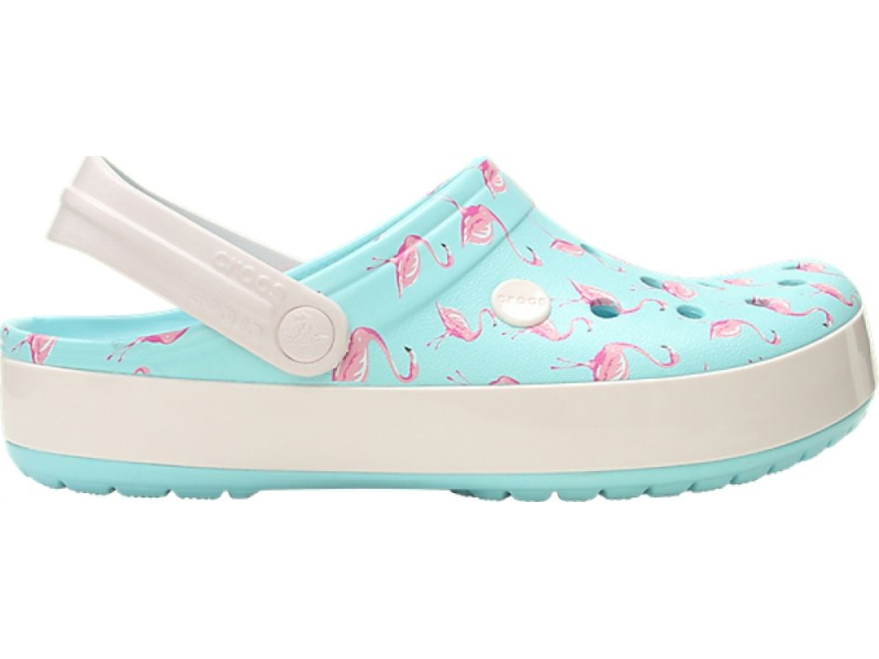 Crocs™ Crocband Seasonal Graphic Clog Ice Blue/Pink