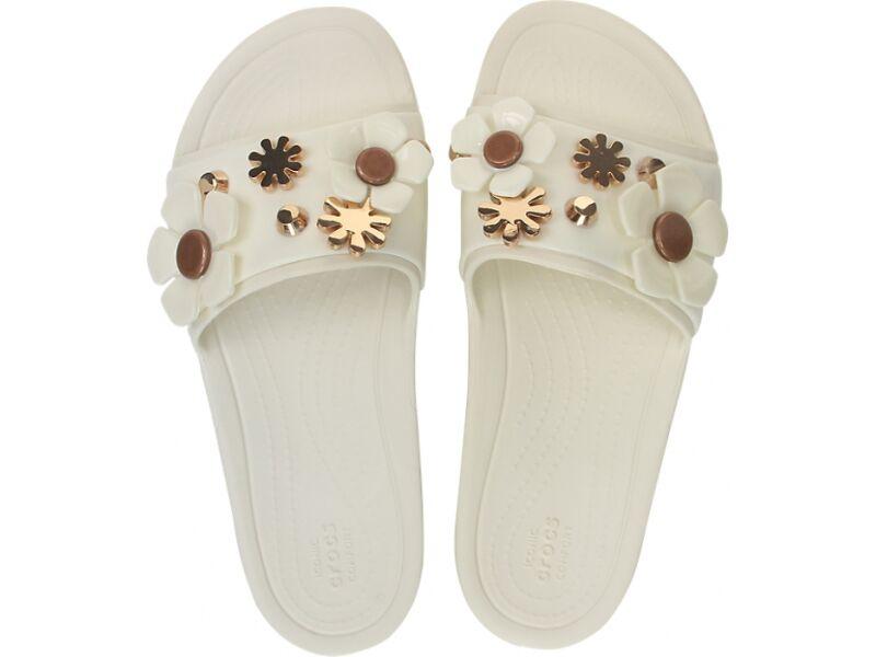 Crocs™ Sloane Metal Blooms Slide Women's Multi/Oyster