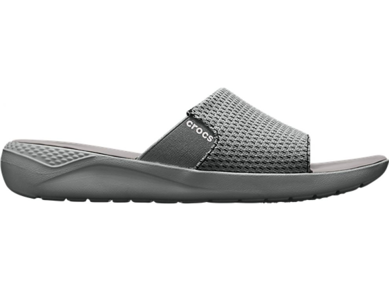 Crocs™ LiteRide Mesh Slide Men's Smoke/Pearl White