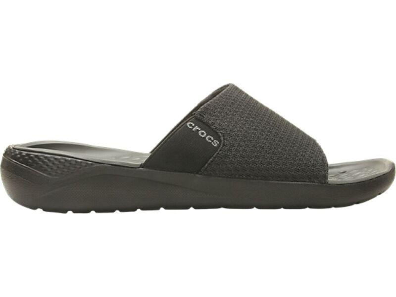 Crocs™ LiteRide Mesh Slide Men's Black/Slate Grey