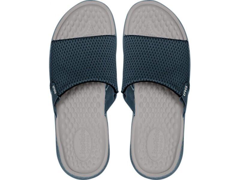 Crocs™ LiteRide Mesh Slide Men's Navy/Pearl White