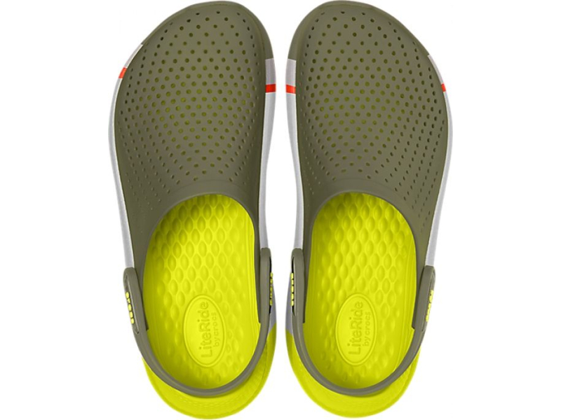 Crocs™ LiteRide Colorblock Clog Army Green/White
