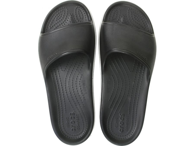 Crocs™ Crocband Platform Slide Black/White