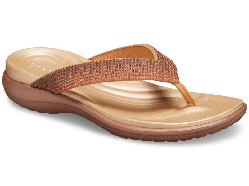 Crocs™ Capri V Diamante Flip Women's Melon Ombre/Bronze