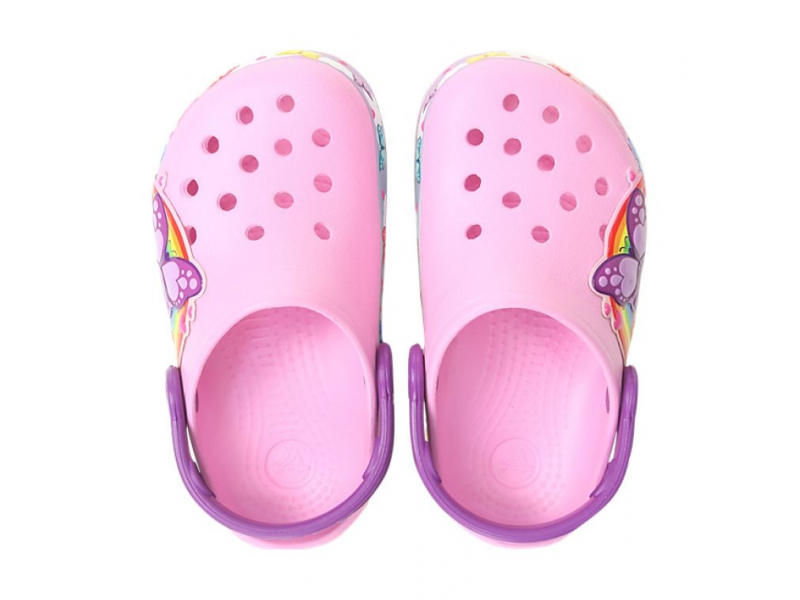 Crocs™ CFL Butterfly Band Lights Clog Kid's Carnation