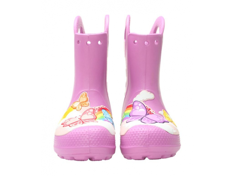 Crocs™ Funlab Butterfly Rain Boot Kid's Violet