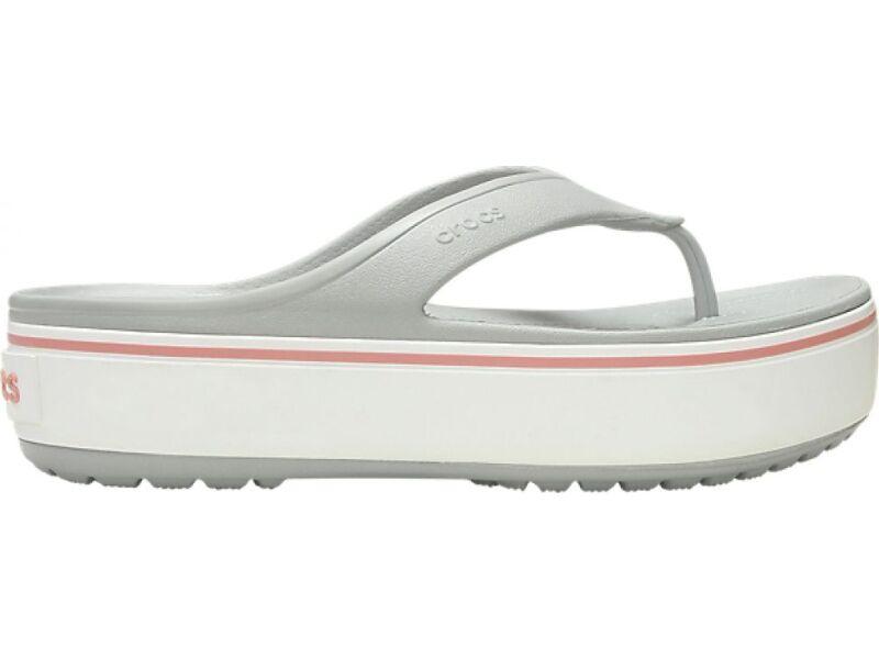 fbf8b4a5baf ... Crocs™ Crocband Platform Flip Light Grey Rose ...