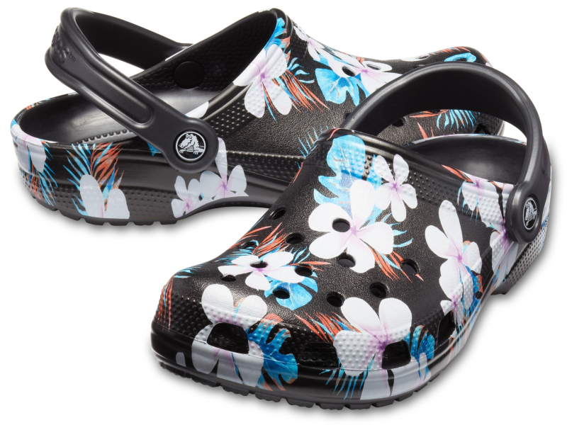 Crocs™ Classic Seasonal Graphic Clog Black/Floral