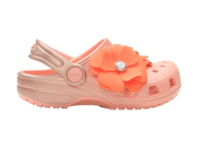 Crocs™ Classic Vivid Blooms Clog Kid's Melon