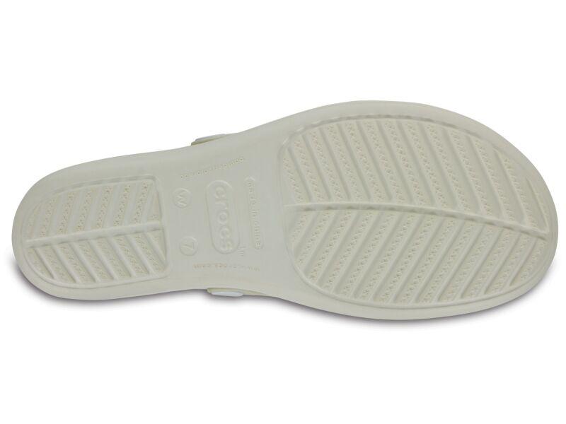 Crocs™ SANRAH EMBELLISHED WEDGE FLIP Oyster/Gold