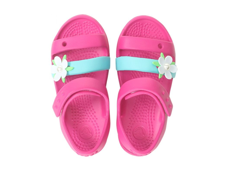 Crocs™ KEELEY CHARM SANDAL KID'S Candy Pink