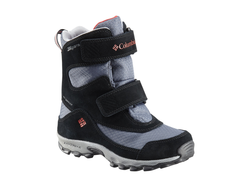 Columbia Parkers Peak Velcro Boot Graphite/Bright Red