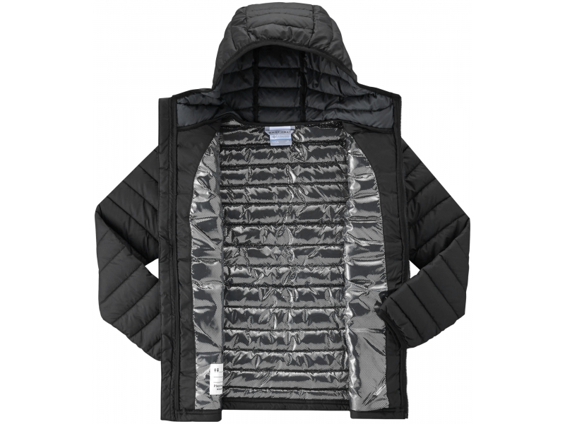 Columbia Powder Lite Boys Hooded Jacket Black