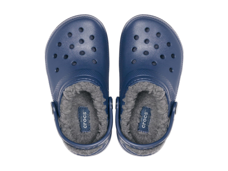 Crocs™ Kids' Classic Lined Clog Navy/Charcoal