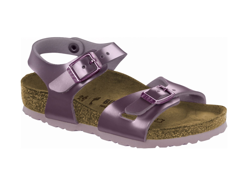 Birkenstock Rio Kids Electric Metallic Lilac