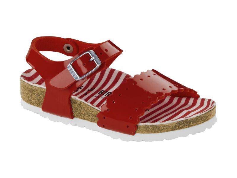 Birkenstock Risa Kids Nautical Stripes Red