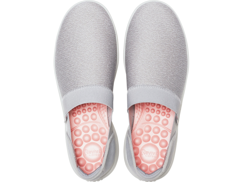 Crocs™ Reviva Slip-On Women's Light Grey/Pearl White