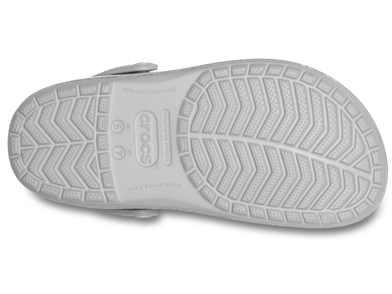 Crocs™ Crocband Printed Clog Metallic Silver