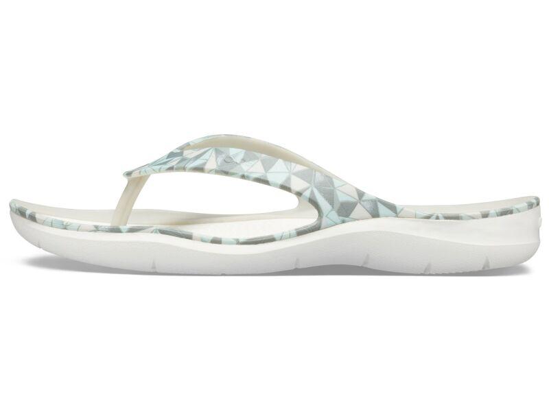 Crocs™ Swiftwater Printed Flip Women's Geo/White