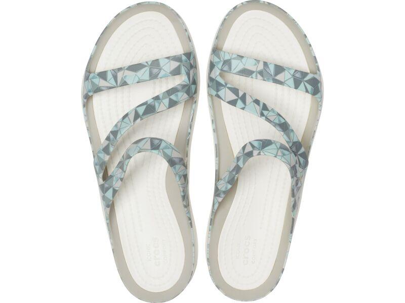 Crocs™ Swiftwater Printed Sandal Women's Geo/White