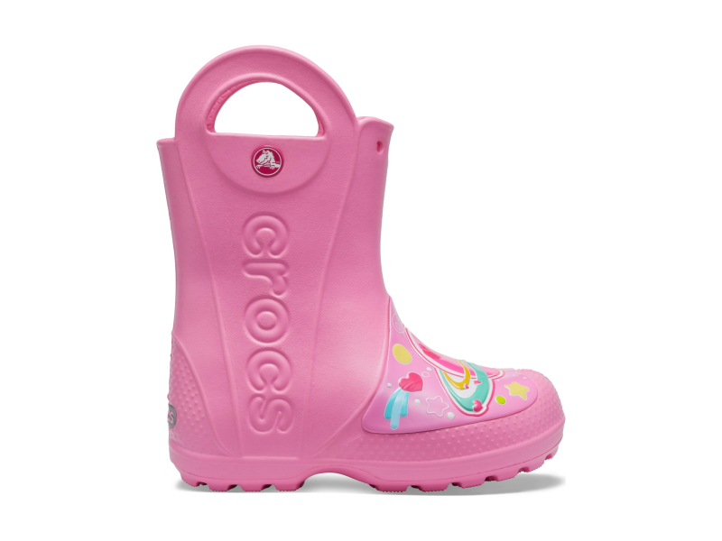 Crocs™ FunLab Galactic Hearts Rain Boot Girl's Pink Lemonade