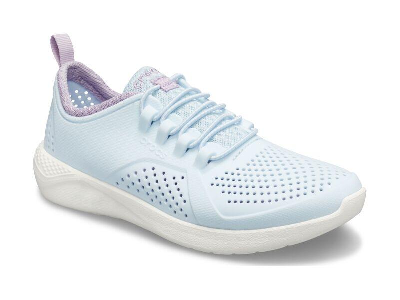 Crocs™ LiteRide Pacer Kid's Mineral Blue/White