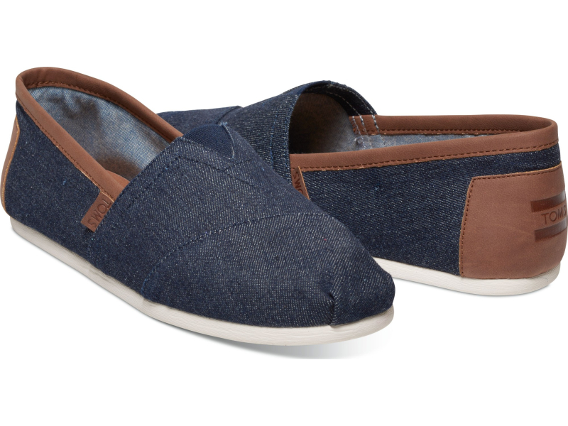 TOMS Denim Trim Men's Alpargata Dark