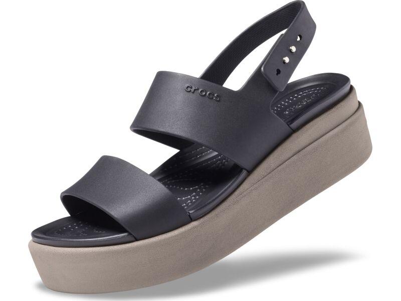 Crocs™ Brooklyn Low Wedge Womens Black/Mushroom
