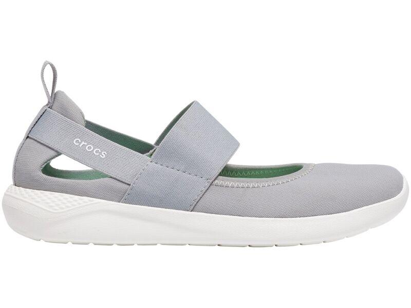 Crocs™ Literide Mary Jane Womens Light Grey/White