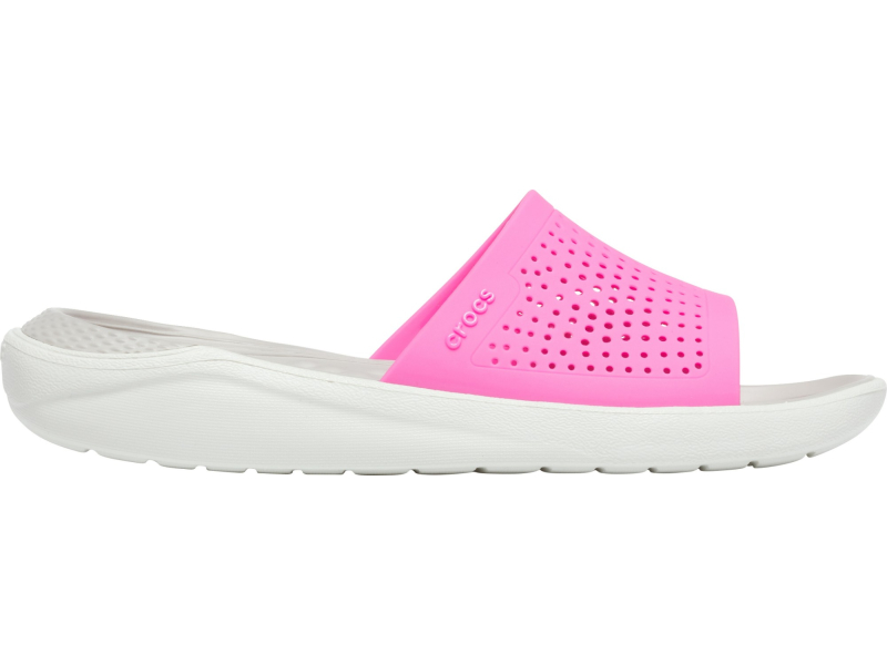 Crocs™ LiteRide Slide Electric Pink/Almost White