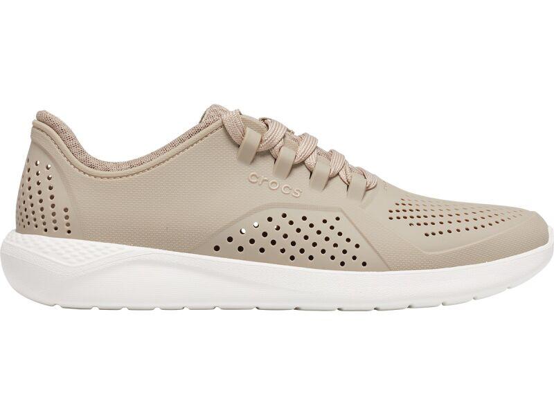 Crocs™ LiteRide Pacer Cobblestone/White
