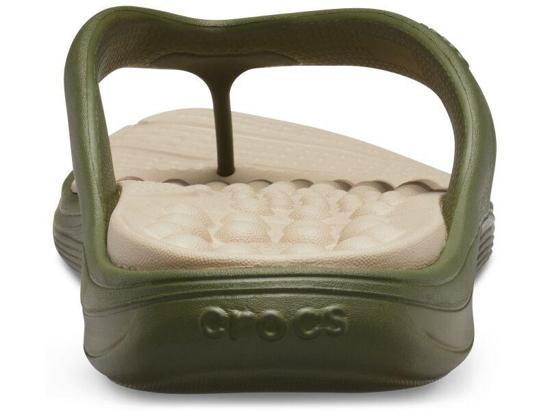 Crocs™ Reviva Flip Army Green/Cobblestone
