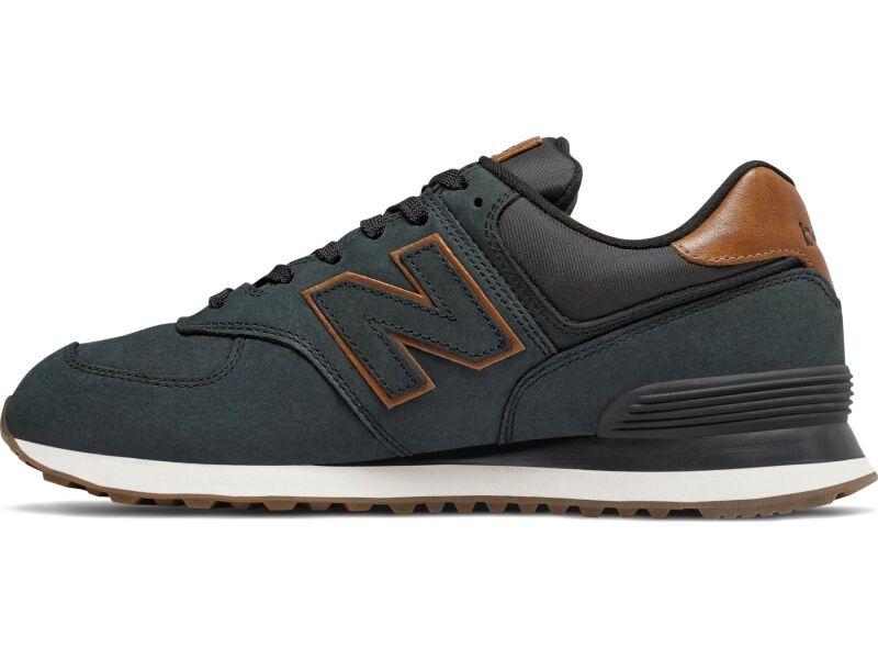 New Balance ML574 Leather Black NBI