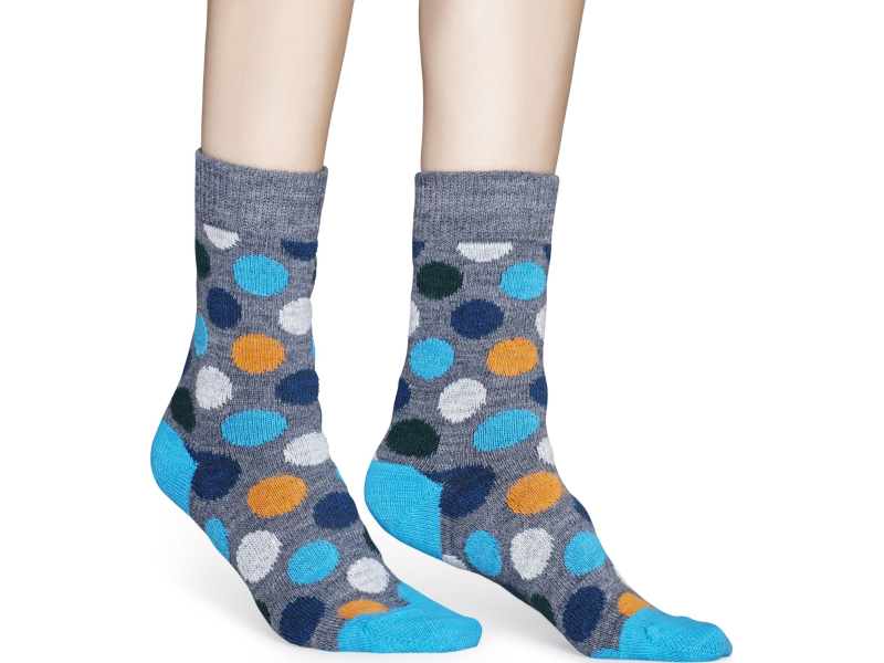 Happy Socks Wool Big Dot Block Multi 9700