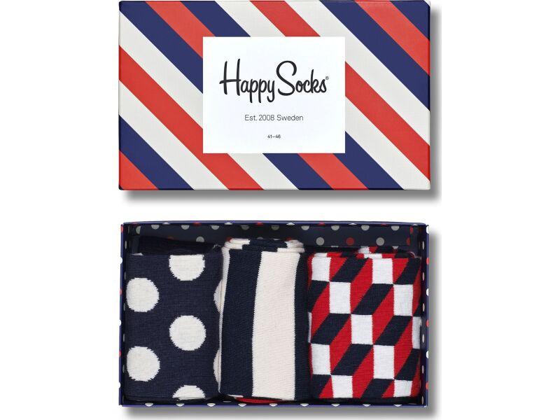 Happy Socks Classic Stripe Gift Box Multi 6000