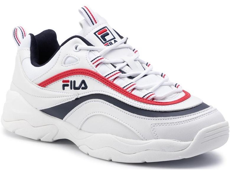 FILA Ray Low White/Fila Navy/Fila Red