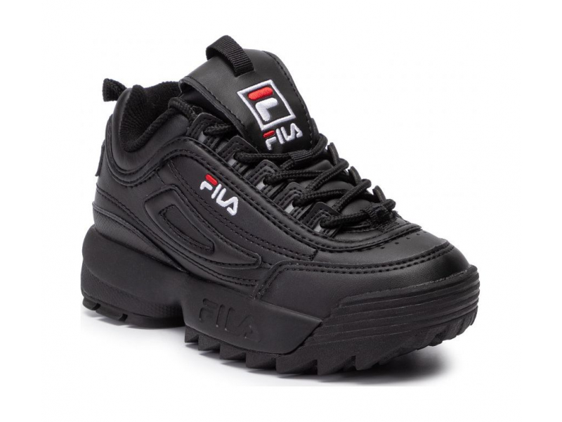 FILA Disruptor Kids Black/Black