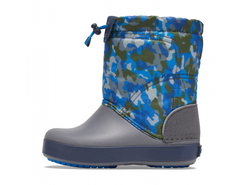 Crocs™ Crocband LodgePoint Graphic Winter Boot K Army Green/Charcoal
