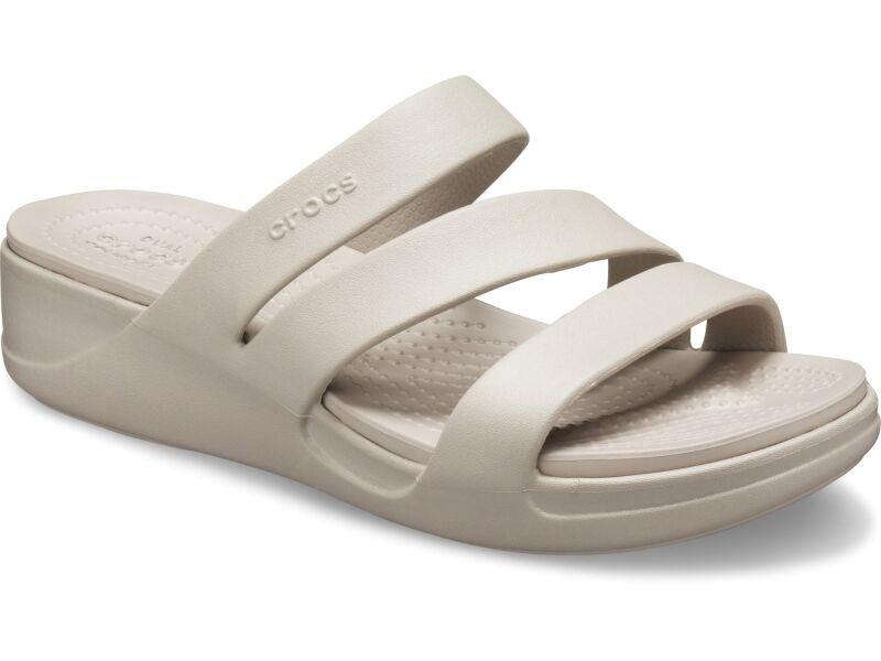 Crocs™ Monterey Wedge Womens Platinum